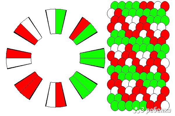 Схема фенечки кумихимо 20435