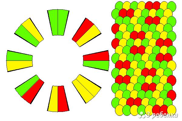 Схема фенечки кумихимо 20431