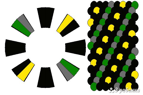 Схема фенечки кумихимо 20427