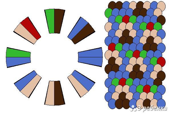 Схема фенечки кумихимо 20423