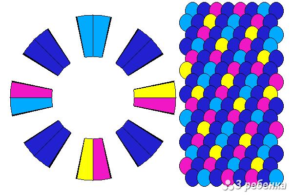 Схема фенечки кумихимо 20419