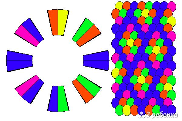 Схема фенечки кумихимо 20414