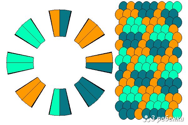 Схема фенечки кумихимо 20410