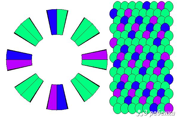 Схема фенечки кумихимо 20406