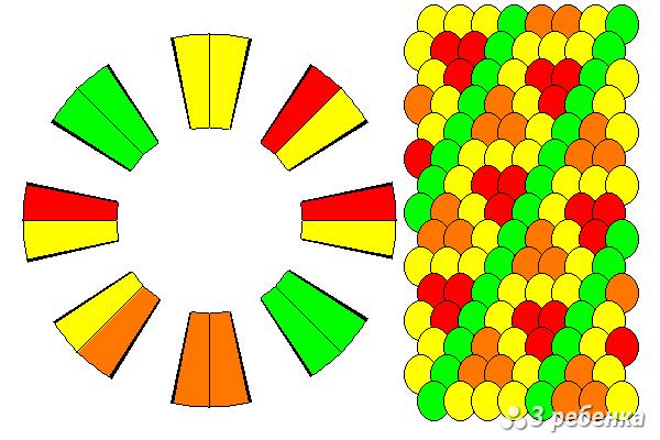 Схема фенечки кумихимо 20402