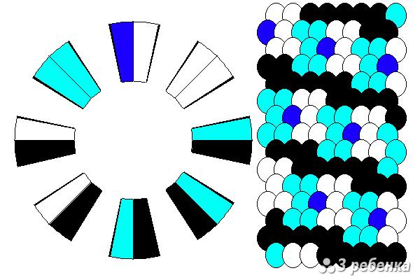 Схема фенечки кумихимо 20398