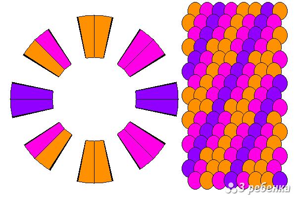 Схема фенечки кумихимо 20394