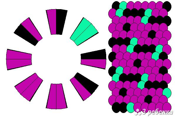 Схема фенечки кумихимо 20390