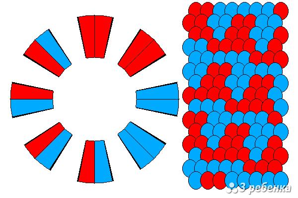 Схема фенечки кумихимо 19397