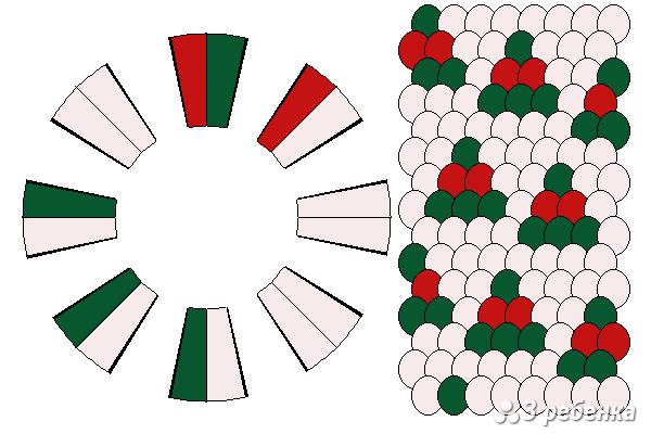 Схема фенечки кумихимо 19389