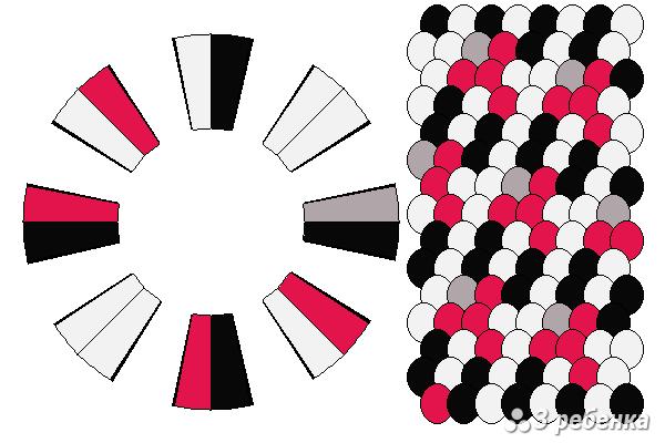 Схема фенечки кумихимо 19385