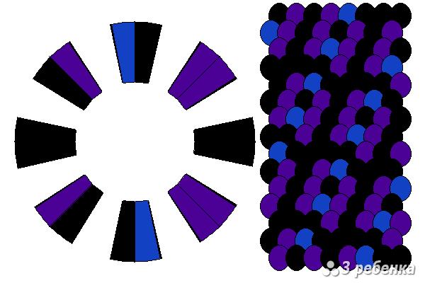 Схема фенечки кумихимо 19357