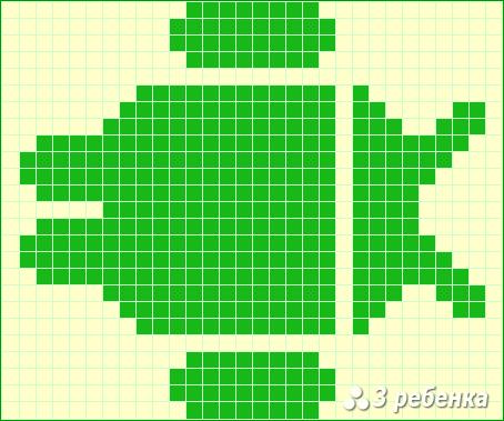 Схема фенечки прямым плетением 19973