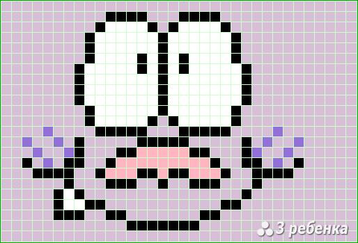 Схема фенечки прямым плетением 20097