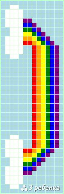 Схема фенечки прямым плетением 20153