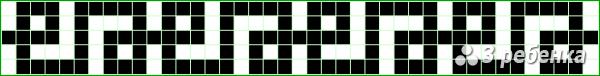Схема фенечки прямым плетением 19915