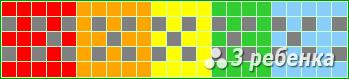 Схема фенечки прямым плетением 20112