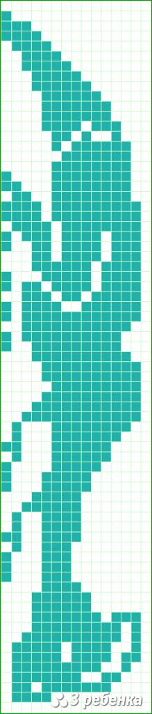 Схема фенечки прямым плетением 19957