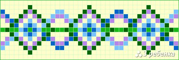 Схема фенечки прямым плетением 20132