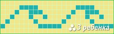 Схема фенечки прямым плетением 20009
