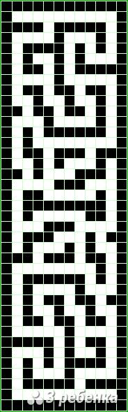 Схема фенечки прямым плетением 20178