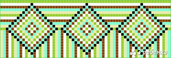 Схема фенечки прямым плетением 20173