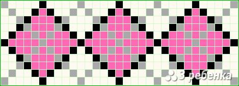 Схема фенечки прямым плетением 19994