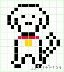 Схема фенечки прямым плетением 20168
