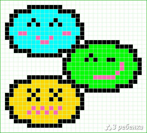 Схема фенечки прямым плетением 19930
