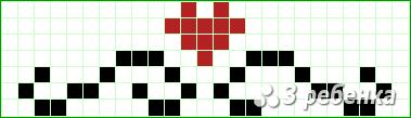 Схема фенечки прямым плетением 20158