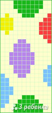 Схема фенечки прямым плетением 19962