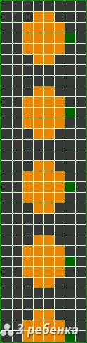 Схема фенечки прямым плетением 20127