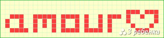 Схема фенечки прямым плетением 19311