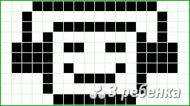 Схема фенечки прямым плетением 19935