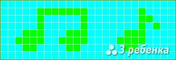 Схема фенечки прямым плетением 20102