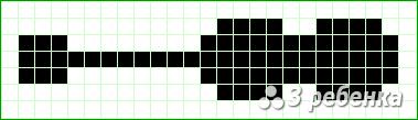 Схема фенечки прямым плетением 20074