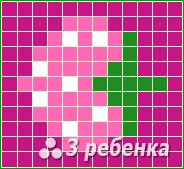 Схема фенечки прямым плетением 20163