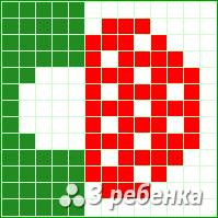 Схема фенечки прямым плетением 20069
