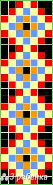 Схема фенечки прямым плетением 19978
