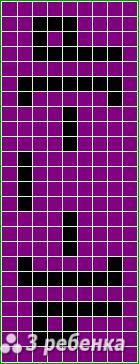 Схема фенечки прямым плетением 20014