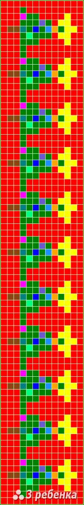 Схема фенечки прямым плетением 20054