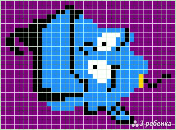 Схема фенечки прямым плетением 20092
