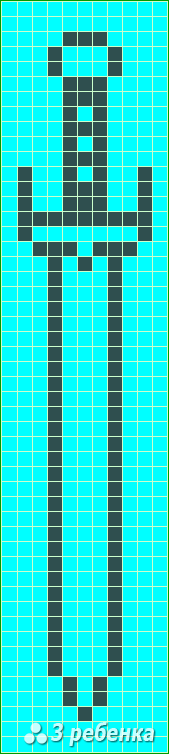Схема фенечки прямым плетением 20064