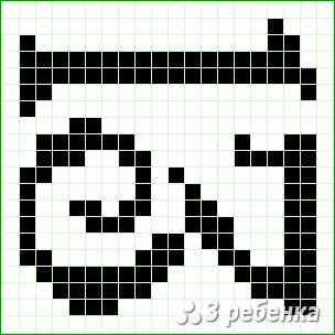 Схема фенечки прямым плетением 19983