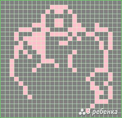 Схема фенечки прямым плетением 20188