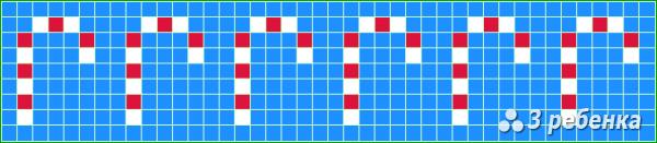 Схема фенечки прямым плетением 19925