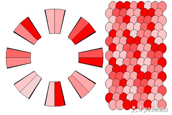 Схема фенечки кумихимо 20976