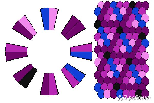 Схема фенечки кумихимо 21106