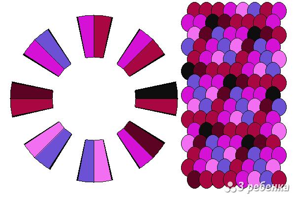 Схема фенечки кумихимо 21102