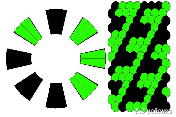 Схема фенечки кумихимо 21098
